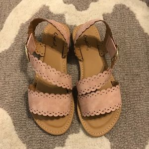 Blush scalloped Sandals